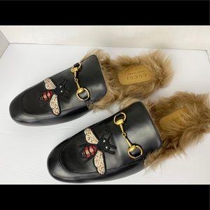 Gucci Princeton Fur Loafers size 12